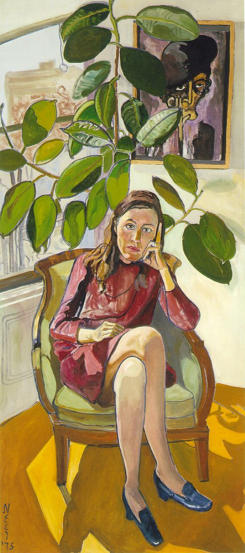 """""""Nancy and the Rubber Plant"""" - Alice Neel (1975)"""