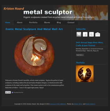 Kristen Hoard Metal Sculpture Website