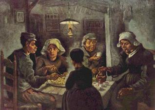 """Vincent Van Gogh - """"The Potato Eaters"""" - 1885"""